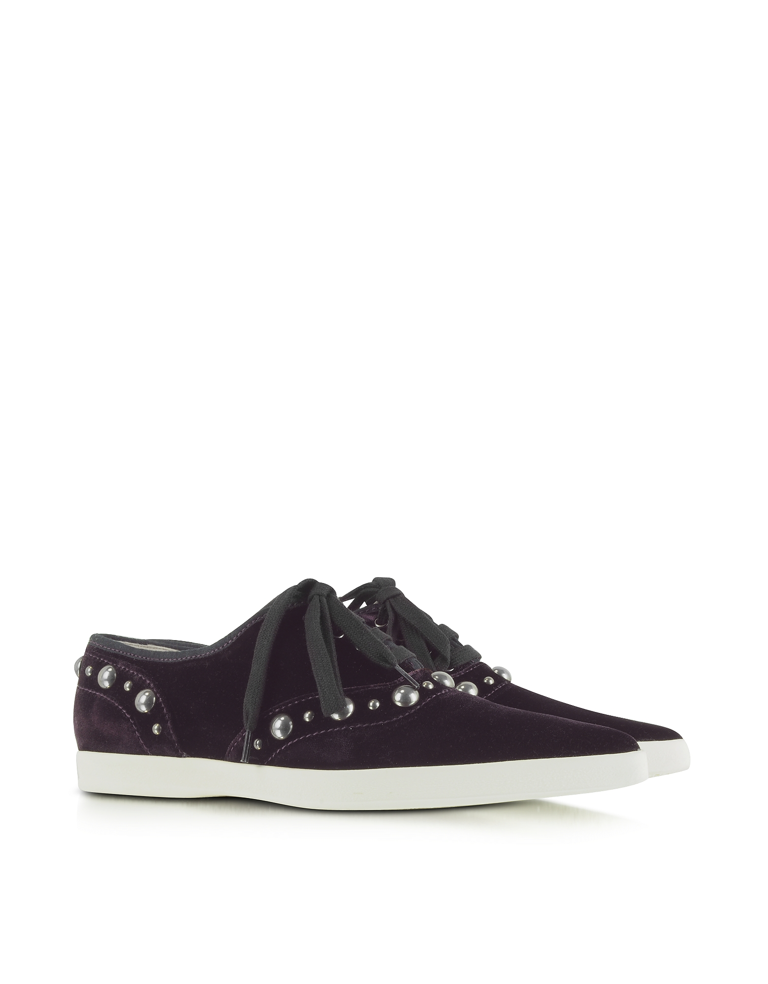 Marc Jacobs Shoes, Purple Pointed Toe Lace Up Velvet Sneaker