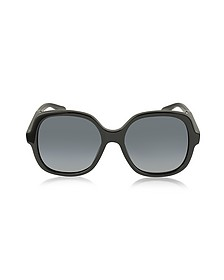MJ 589/S 807HD Rounded Square Black Oversized Acetate Women's Sunglasses - Marc Jacobs