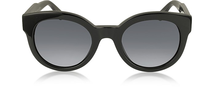 MJ 588/S Black Touch Round Acetate Women's Sunglasses - Marc Jacobs
