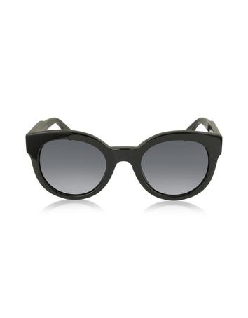 marc jacobs female mj 588s black touch round acetate womens sunglasses