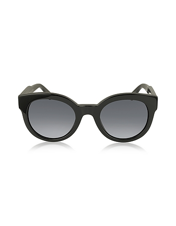 MJ 588/S Black Touch Round Acetate Women's Sunglasses