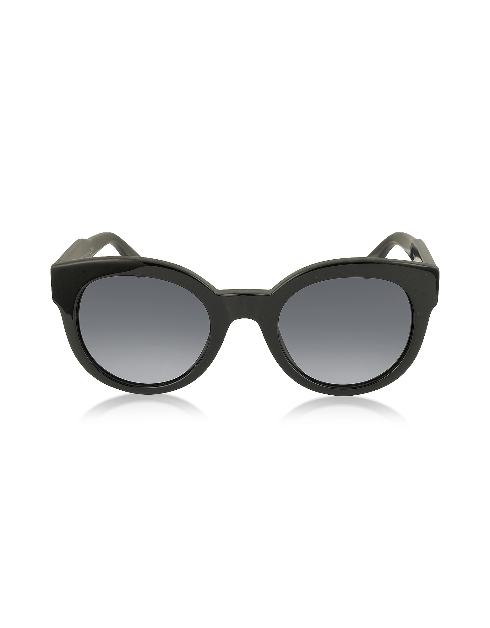 Marc Jacobs Sunglasses, MJ 588/S Black Touch Round Acetate Women's Sunglasses
