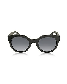 MJ 588/S Black Touch Round Acetate Women's Sunglasses - Marc Jacobs