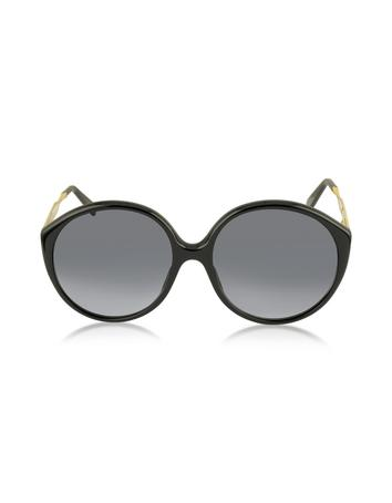 marc jacobs female mj 613s acetate round womens sunglasses