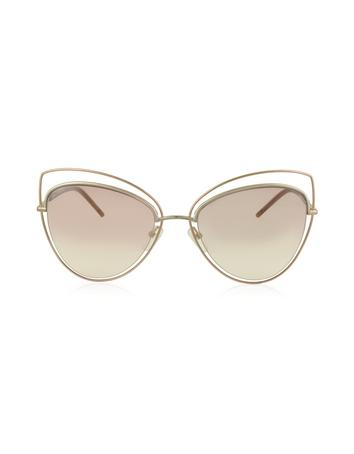 marc jacobs female marc 8s metal and acetate cat eye womens sunglasses