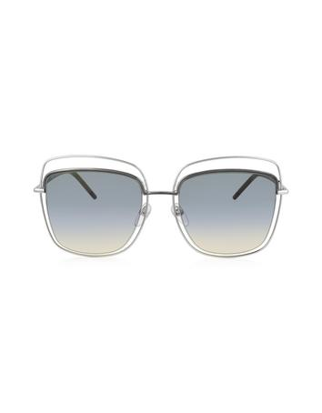 marc jacobs female marc 9s tyyb0 silver metal square oversized womens sunglasses