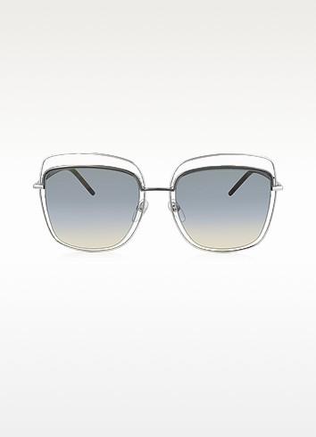Marc Jacobs MARC 9/S TYYB0 - Крупные Серебристые Женские Солнечные Очки в Квадратной Металлической Оправе