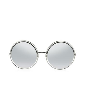 marc jacobs female marc 11s metal acetate round oversized womens sunglasses