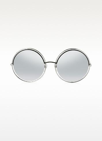 MARC 11/S Metal & Acetate Round Oversized Women's Sunglasses - Marc Jacobs