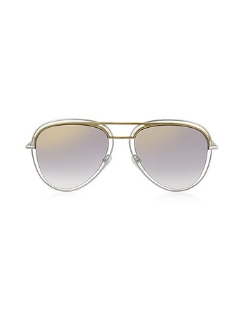 Marc Jacobs - MARC 7/S Metal & Acetate Aviator Women's Sunglasses
