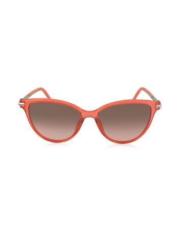 marc jacobs female 123936 marc 47s totfx coral acetate cat eye womens sunglasses