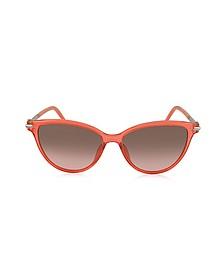 MARC 47/S TOTFX Coral Acetate Cat Eye Women's Sunglasses - Marc Jacobs