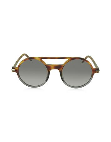 marc jacobs female marc 45s acetate round aviator womens sunglasses
