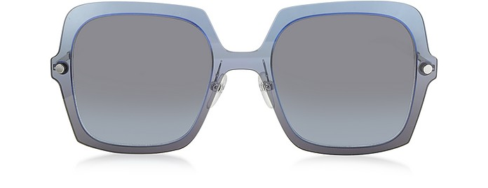 MARC 27/S TWEHL Blue Acetate Square Oversized Women's Sunglasses - Marc Jacobs