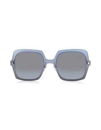 Marc Jacobs - MARC 27/S TWEHL Blue Acetate Square Oversized Women's Sunglasses