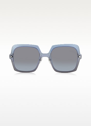 MARC 27/S TWEHL Blue Acetate Square Oversized Women's Sunglasses - Marc Jacobs