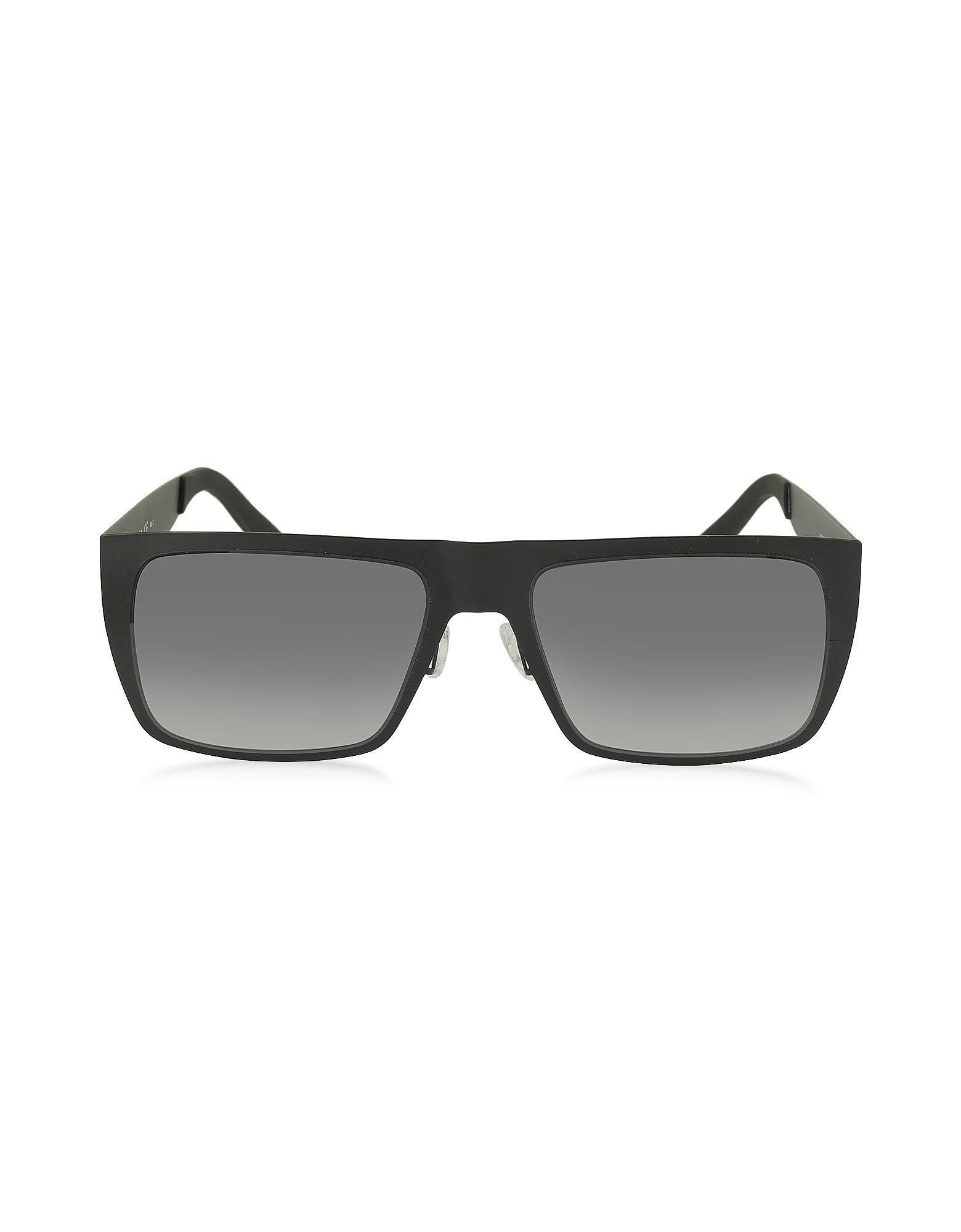 MARC 55/S 003HD - Черные Мужские Прямоугольные Солнечные Очки из Ацетата