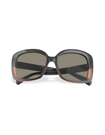 marc jacobs female black and red square sunglasses