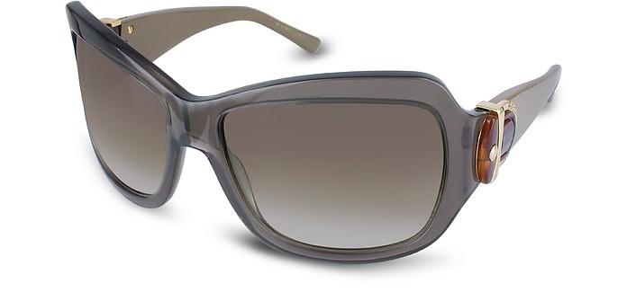 marc jacobs grau braungrau grosse sonnenbrille mit kunststoffrahmen forzieri. Black Bedroom Furniture Sets. Home Design Ideas