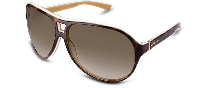 Signature Two-tone Aviator Plastic Sunglasses - Marc Jacobs