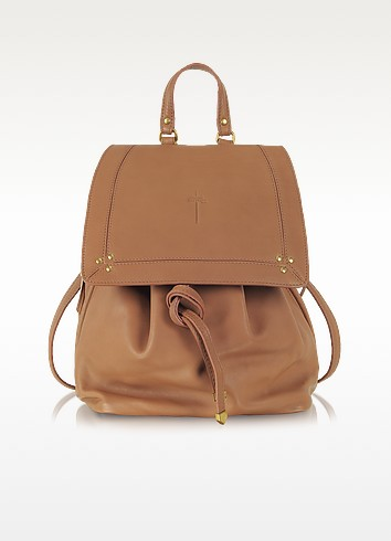 Florent Rosewood Leather Backpack - Jerome Dreyfuss