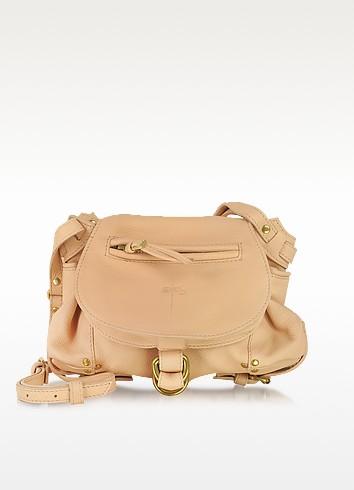 Twee Mini Nude Leather Shoulder Bag - Jerome Dreyfuss