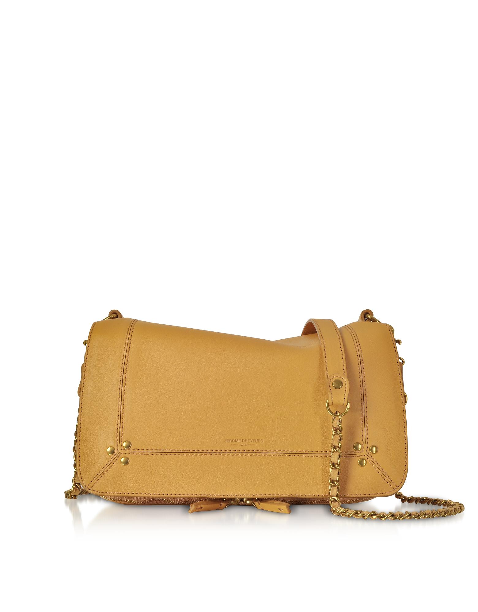 Bobi Camel Leather Shoulder Bag