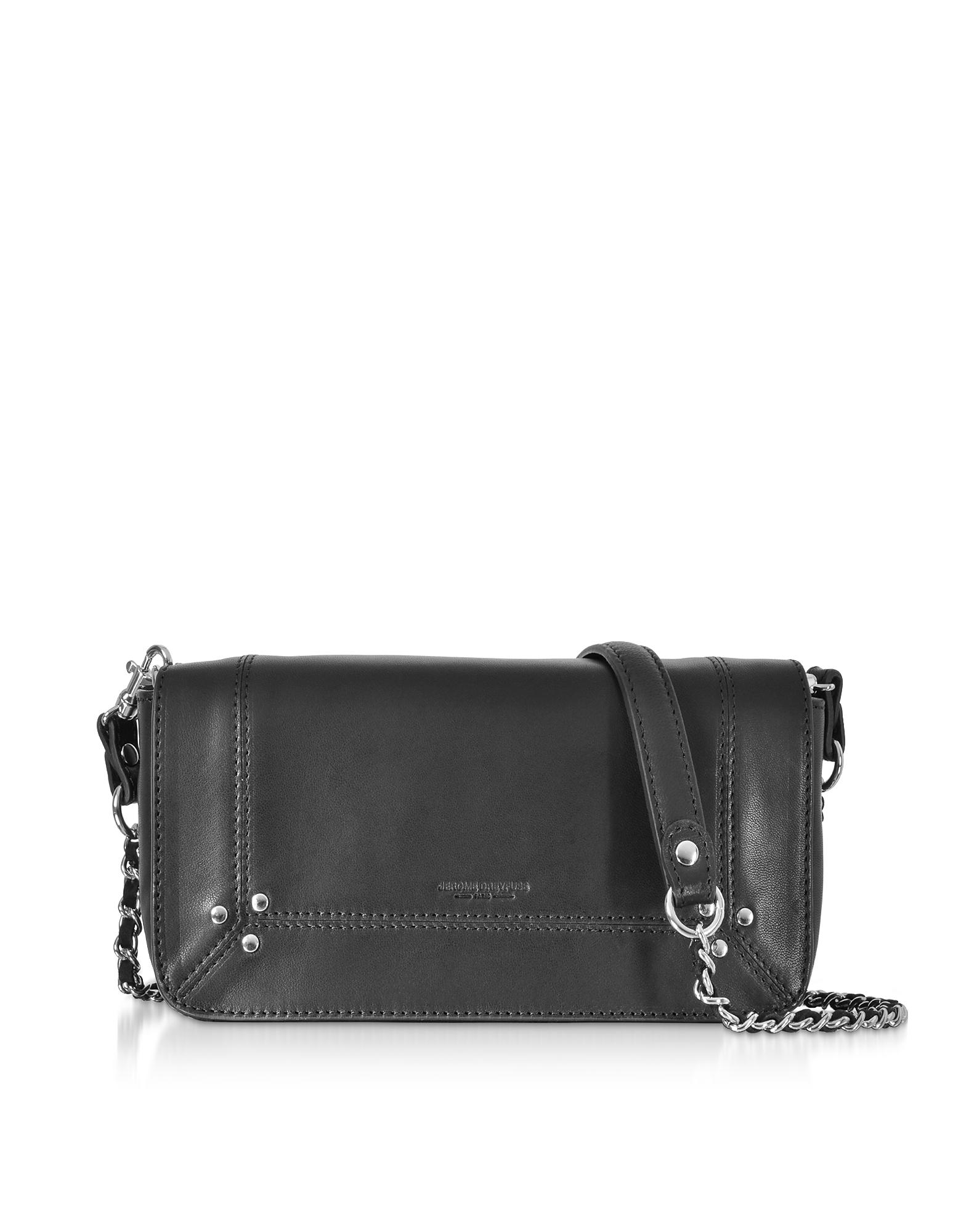 Bob Black Leather Shoulder Bag