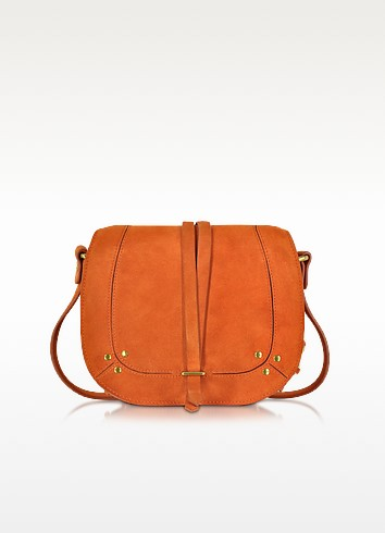 Victor Orange Split Suede Shoulder Bag - Jerome Dreyfuss