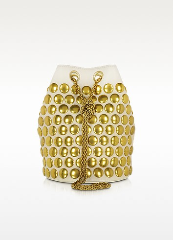 Popeye Cream Festival Leather Bucket Bag - Jerome Dreyfuss