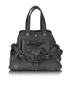 Billy M Black Lambskin Handbag  - Jerome Dreyfuss