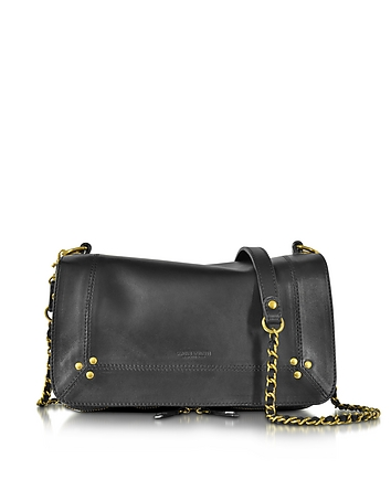 Bobi Black Leather Shoulder Bag