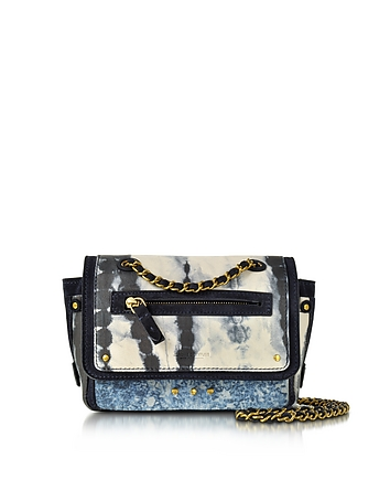 Jerome Dreyfuss - Benji Tie & Dye Caviar Leather Mini Crossbody Bag