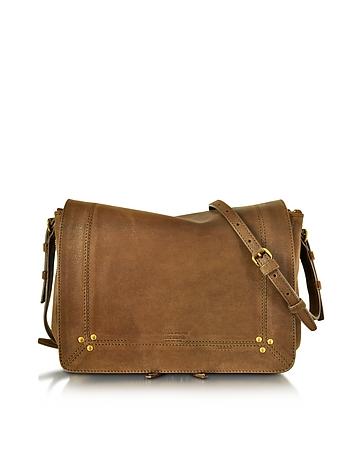 Igor Khaki Leather Crossbody Bag