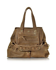 Billy M Khaki Noirci Leather Handbag  - Jerome Dreyfuss