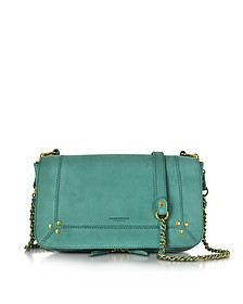 Bobi Aloe Green Nabuk Shoulder Bag  - Jerome Dreyfuss
