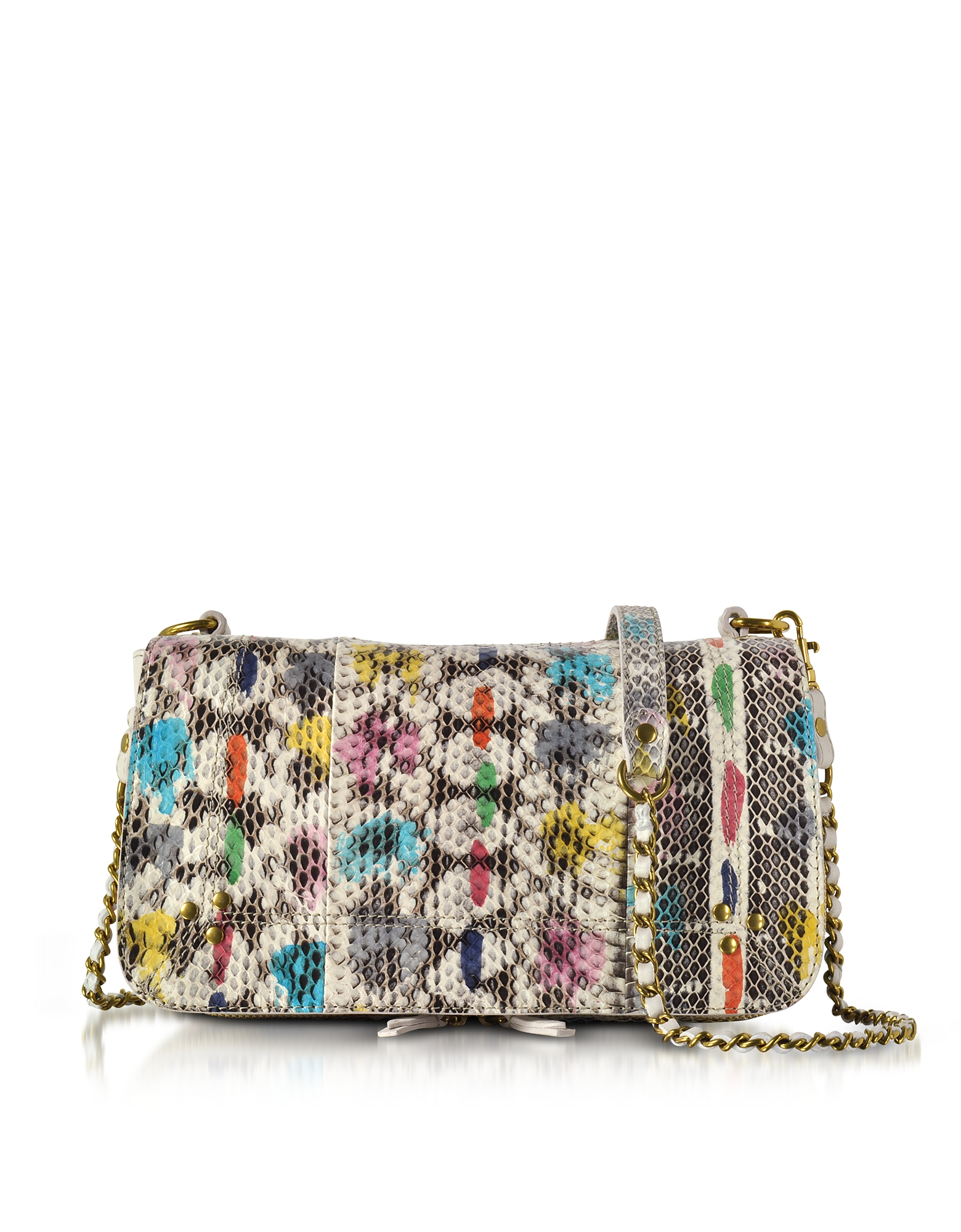 Jerome Dreyfuss Handbags, Bobi Vassily Printed Snakeskin Shoulder Bag
