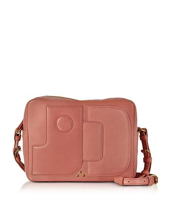 Jerome Dreyfuss Dominique Rose Leather Crossbody Bag