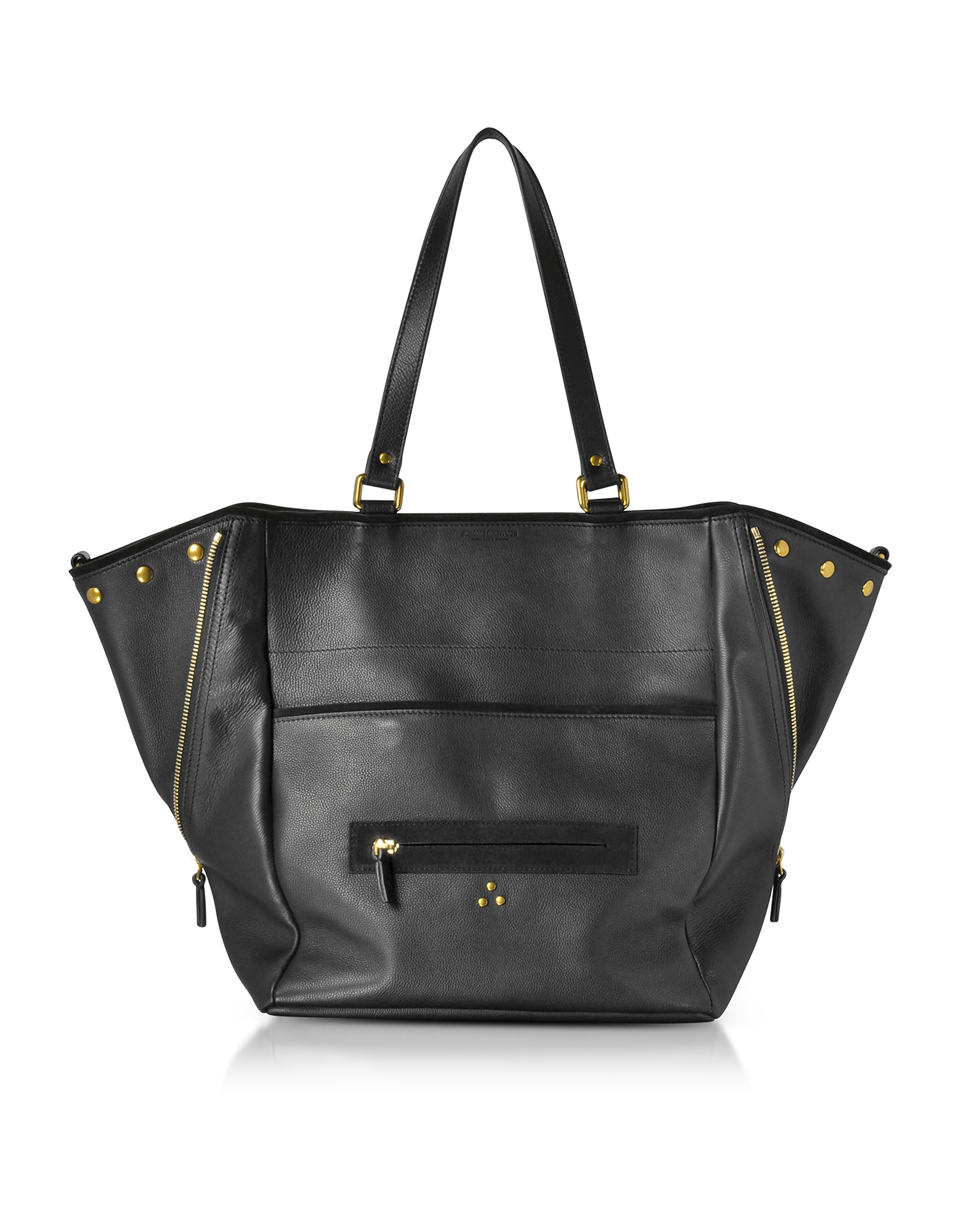 Jerome Dreyfuss Handbags, Serge Black Leather Tote Bag