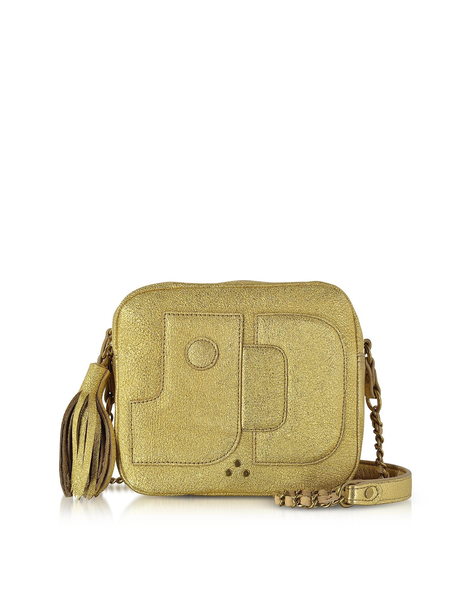 Jerome Dreyfuss Handbags, Golden Leather Pascal Shoulder Bag