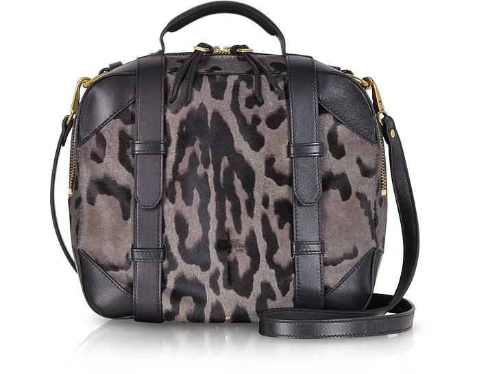 Sam Grey Leopard Print Haircalf Shoulder Bag - Jerome Dreyfuss