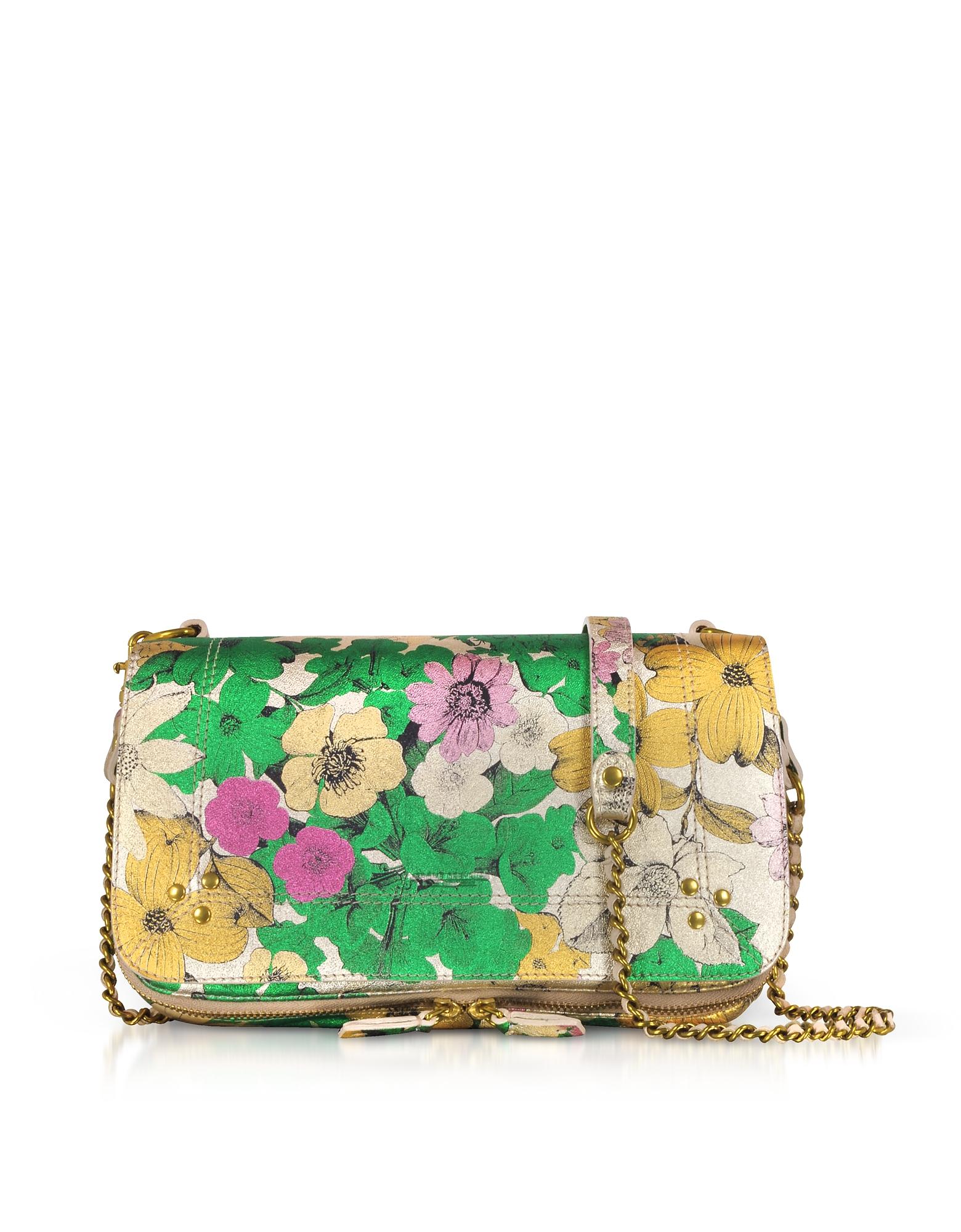 Jerome Dreyfuss Handbags, Bobi Tahiti Lame Shoulder Bag