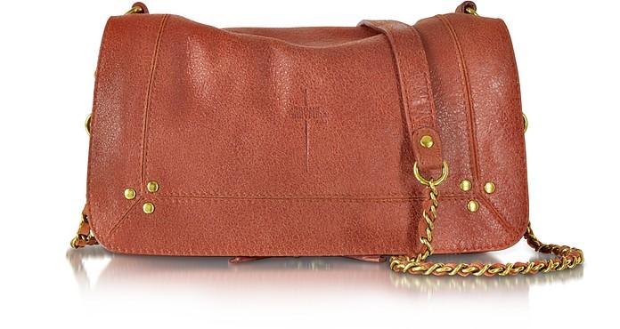 Bobi Rust Leather Shoulder Bag - Jerome Dreyfuss