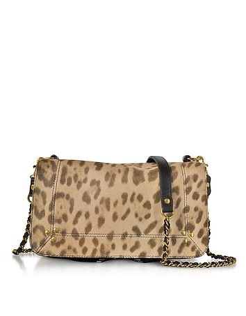 Jerome Dreyfuss - Bobi Leopard Printed Haircalf Shoulder Bag