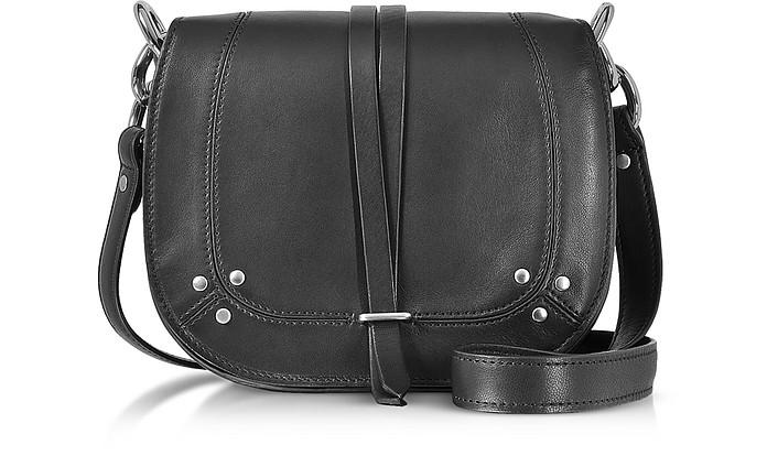 Victor Black Leather Shoulder Bag - Jerome Dreyfuss
