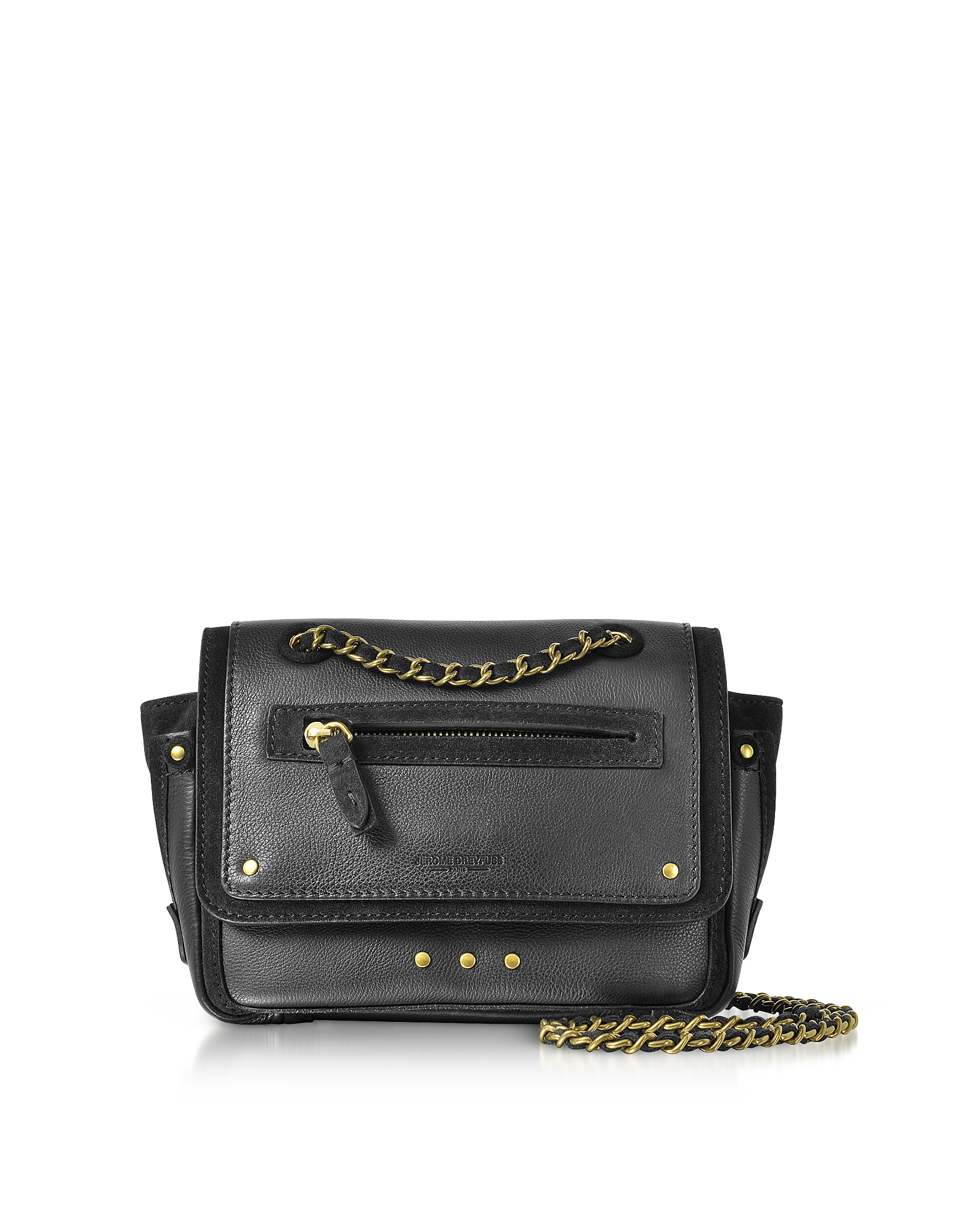 Jerome Dreyfuss Handbags, Benji Leather and Suede Mini Crossbody Bag
