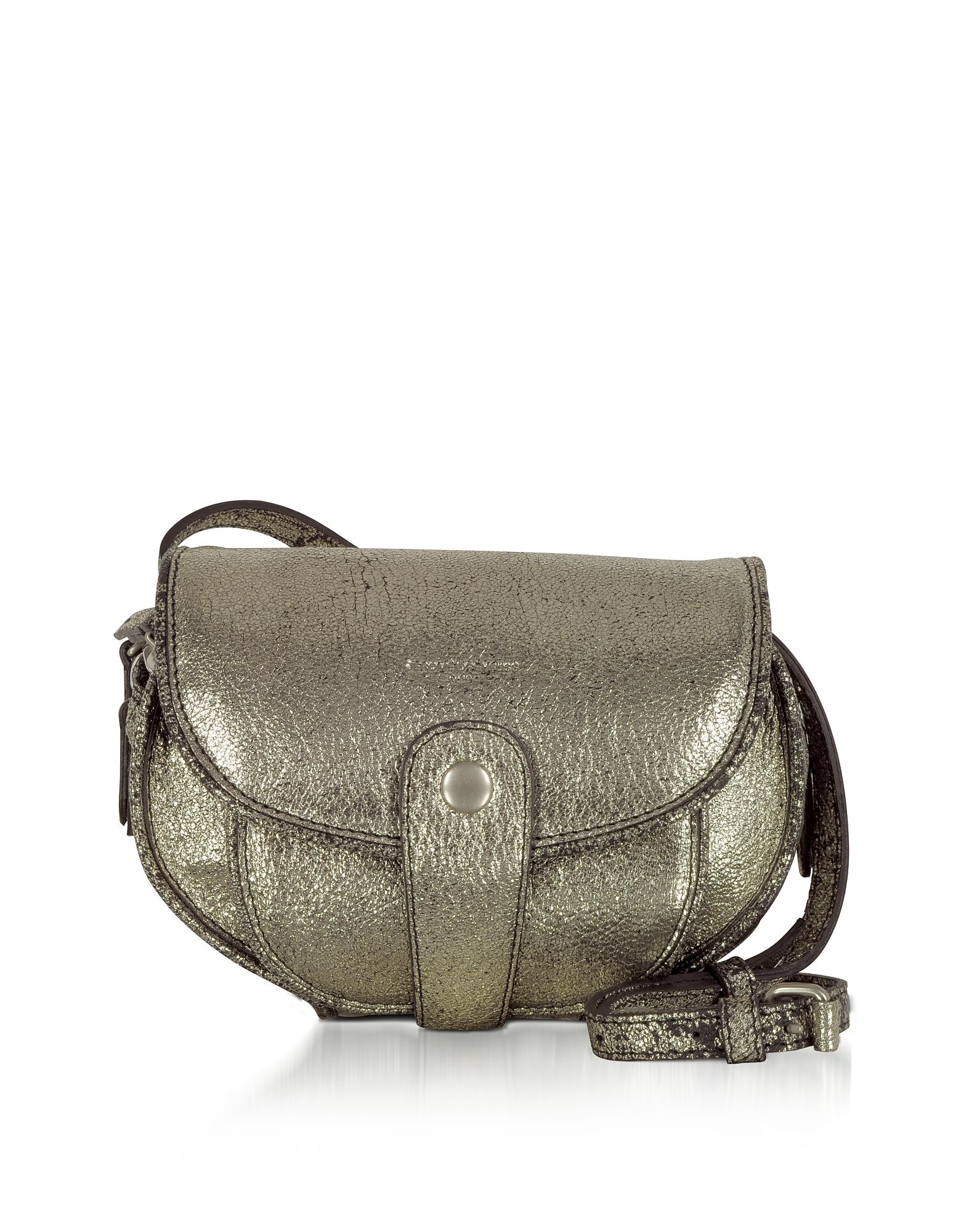Jerome Dreyfuss Handbags, Momo Laminated Leather Mini Shoulder Bag