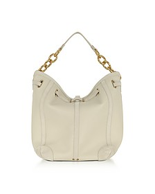 Tanguy Creme Leather and Suede Shoulder Bag - Jerome Dreyfuss