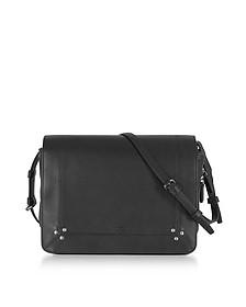 Igor Black Leather Shoulder Bag - Jerome Dreyfuss