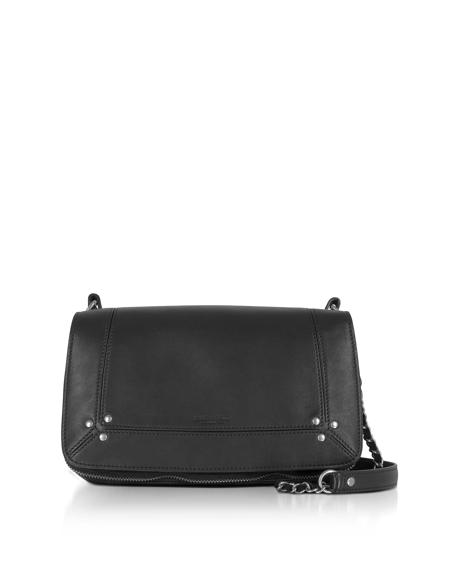 Jerome Dreyfuss Handbags, Bobi Black Leather Shoulder Bag